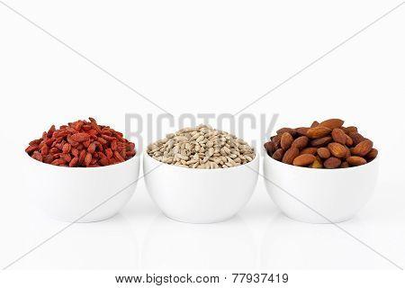 Almonds, Sunflower Seeds And Goji Berries