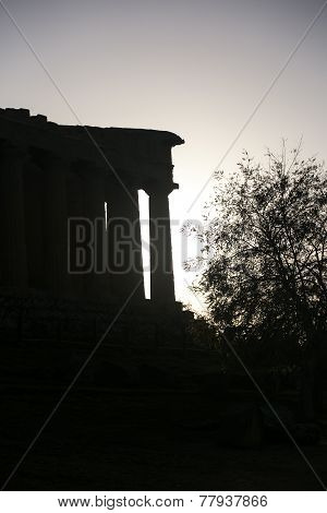 Temple of Concord at sunset