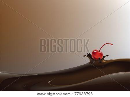 Strawberry in liquid