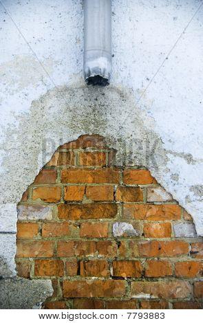 Old broken water pipe