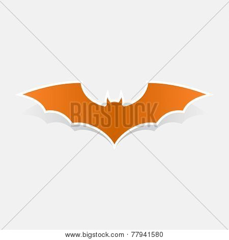 Halloween bat flat icon symbol