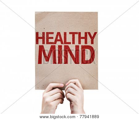 Healthy Mind card isolated on white background