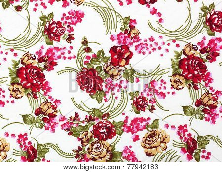 Chintz Flowers Wallpaper Texture