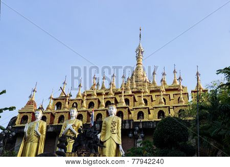 Golden Thailand Multi-storey Pagoda