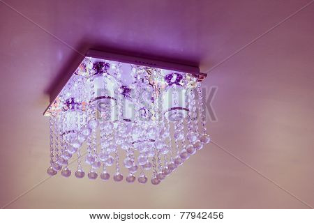 Crystal Chandelier On Ceiling