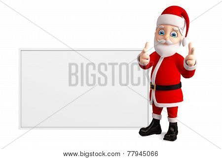 Santa With White Board