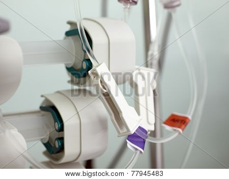 Fragment Of Medical Infusion System