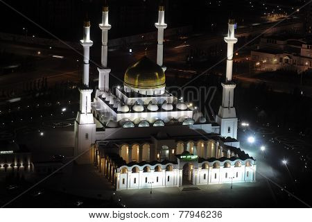 Nur Astana - The Central Mosque In Astana, Kazakhstan.