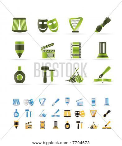 Different kind of art icons