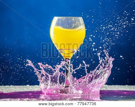 Yellow And Pink Splash