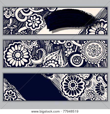 Paisley batik background. Ethnic doodle cards.