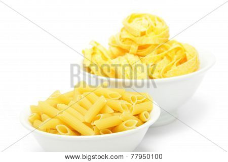 penne and  fettuccine