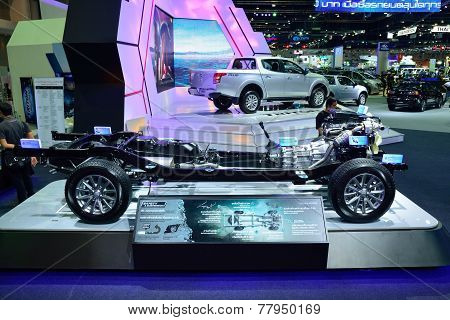 Nonthaburi - December 1: Naked Or Uncover Mitsubishi New Triton 2014 Car Display At Thailand Interna