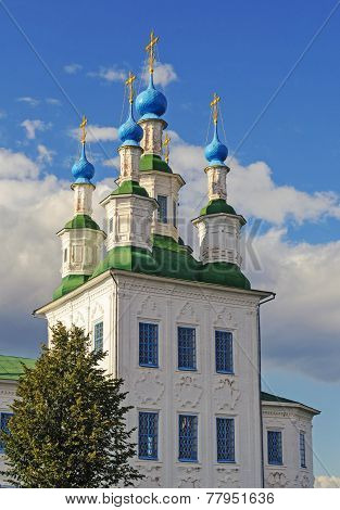 Trinity Church In Ancient Russian Town Tot'ma