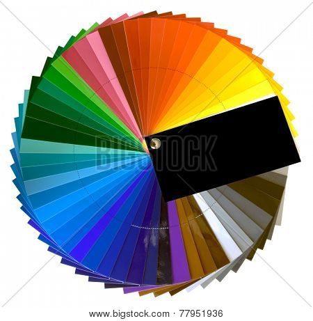 Color Swatch Isolated with Clipping Path