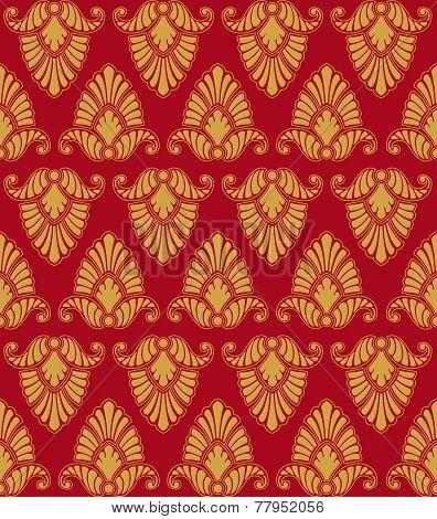 Golden vegetable seamless pattern