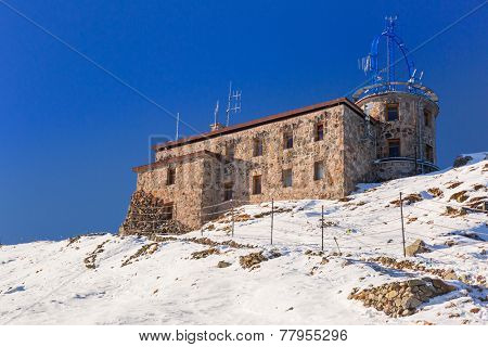 Meteorology station on Kasprowy Wierch in Tatra mountains, Poland