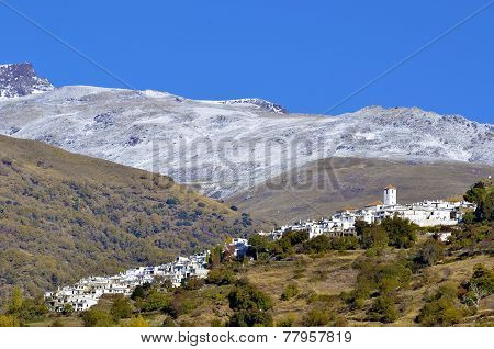 View of Capileira town in Sierra Nevada Granada