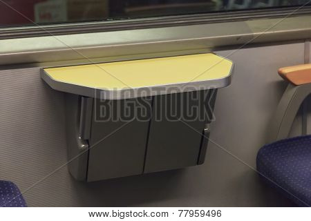 Folding Table In European Train