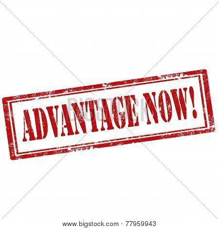 Advantage Now! stamp