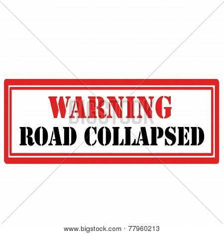 Road Collapsed stamp