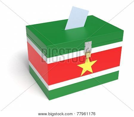 Suriname Flag Ballot Box