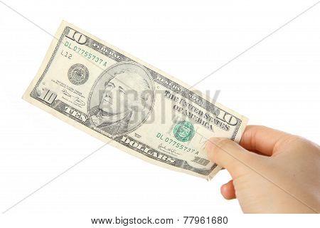 pay a U.S. 10 doller  bill