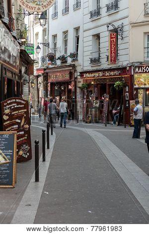 Latin Quarter of Paris France