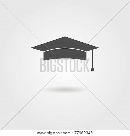 graduation cap with shadow