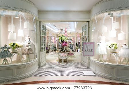 boutique facade with elegant decoration
