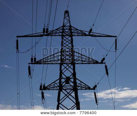 Electricity Pylon Silhouette