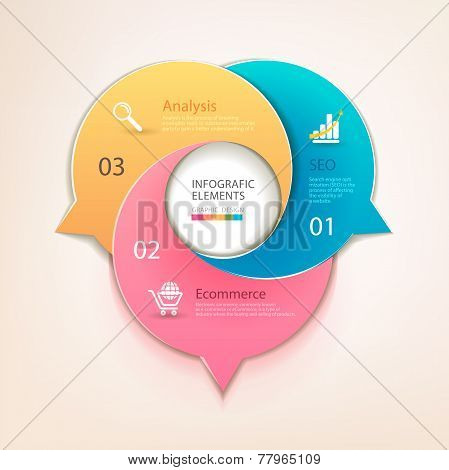 Modern business circle bubbles options banner