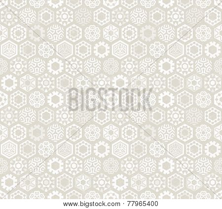 Wallpaper with stylized snowflakes.