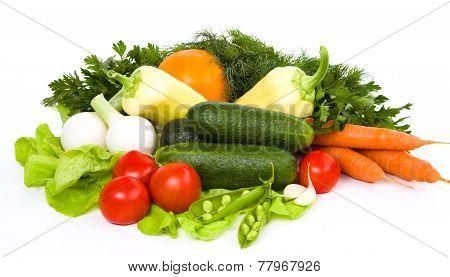 Garden Vegetable Isolated Over White