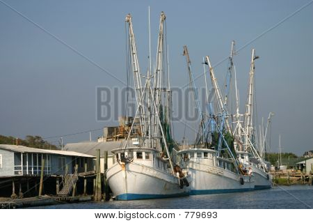 three shrimpboats