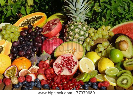 Tropical Organic Fruits