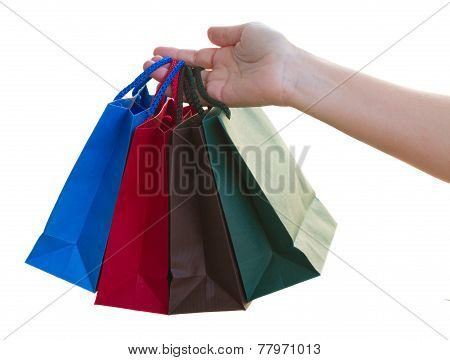 hand holding bags