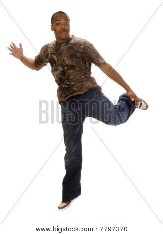 Young African American Man Dancing