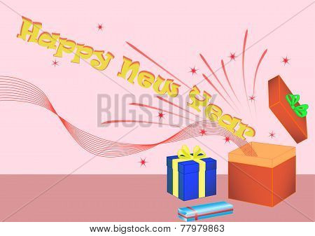Happy New Year giftbox