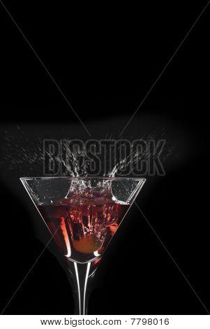 Cocktail Splash With Crown