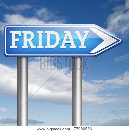 friday week next or following day schedule concept for appointment or event in agenda
