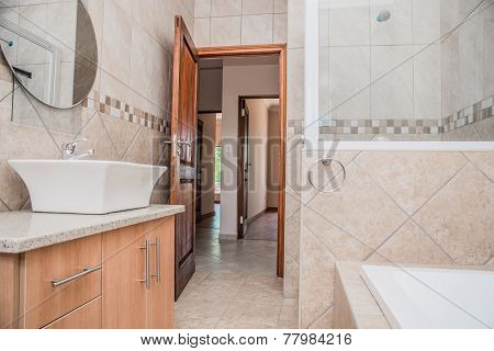 Bathroom Of A Newly Build House