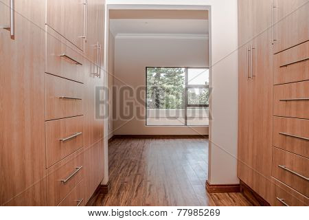 Dressing Room Of Newly Build House