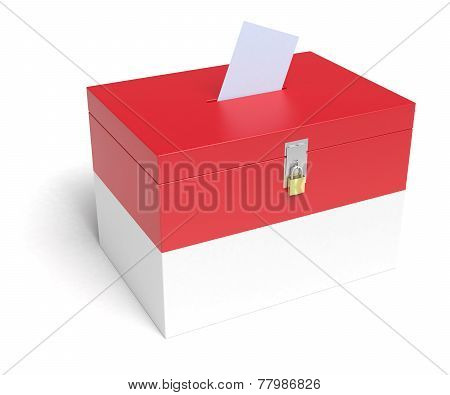 Indonesian Flag Ballot Box