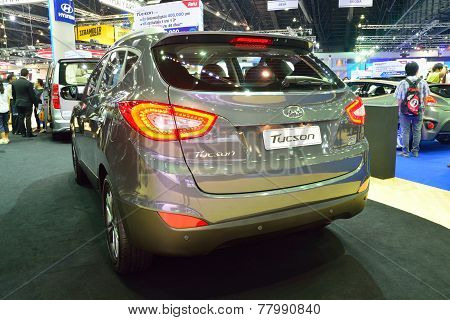 Nonthaburi - December 1: Hyundai Tucson Suv Car Display At Thailand International Motor Expo On Dece
