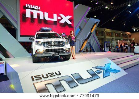 Nonthaburi - December 1: Isuzu Mu-x Suv Car Display At Thailand International Motor Expo On December