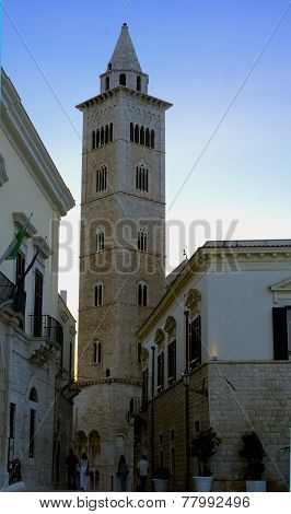 The bell tower of Trani cathedral