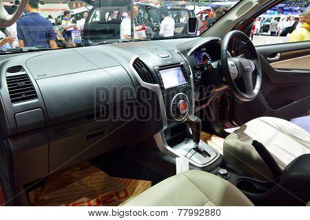 Nonthaburi - December 1: Interior Design Of Isuzu Mu-x Suv Car Display At Thailand International Mot