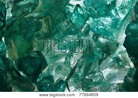 Raw Aquamarine Glass