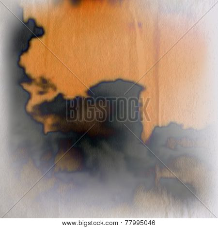 abstract background with wrinkled paper texture and smudged black ink
